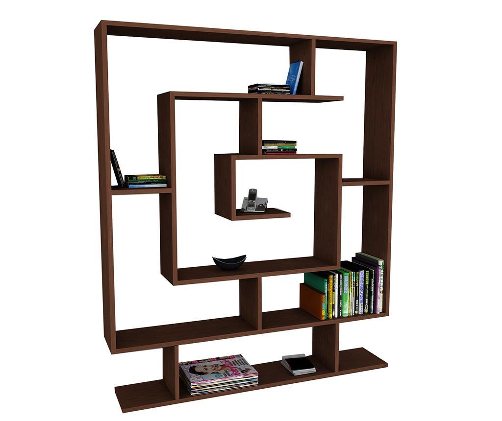 Corp biblioteca Maze Dark Brown - Wooden Art, Maro