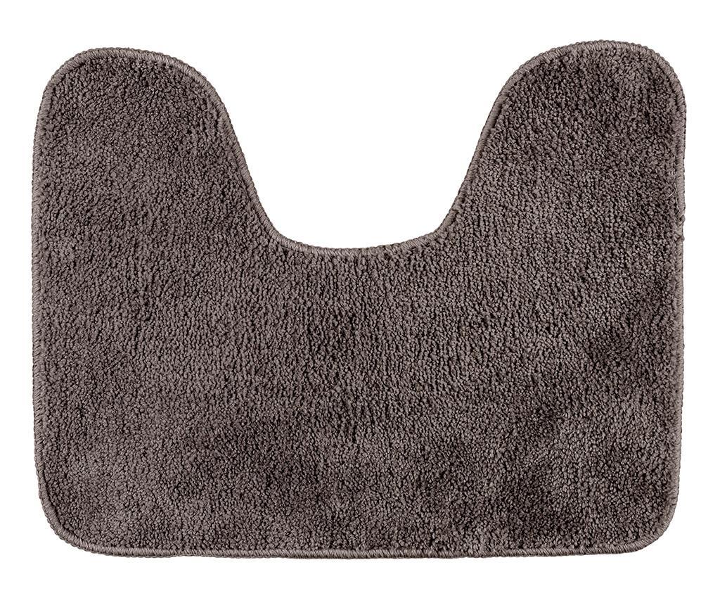 Covoras pentru toaleta Fluffy Taupe 40x50 cm imagine