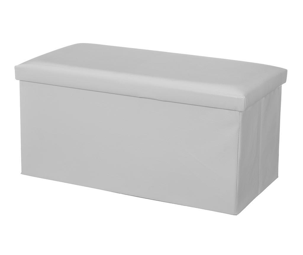 Bancheta pliabila Simple White - Casa Selección, Alb imagine