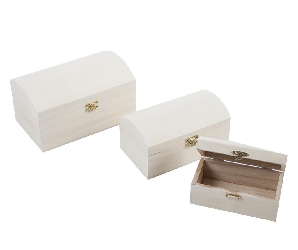 Set 3 cutii cu capac DIY Story - Luigi Dal Pozzo