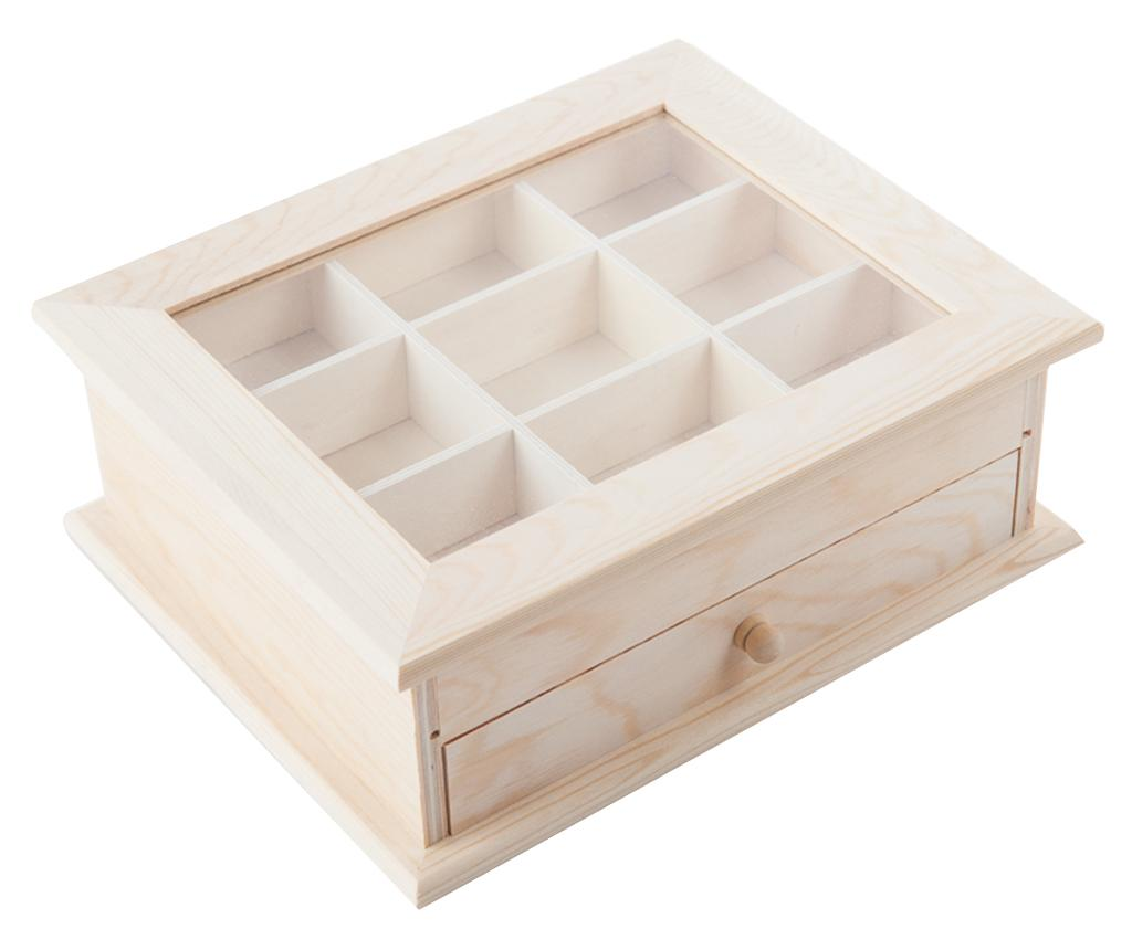 Krabice s víkem na čaj DIY Cassy