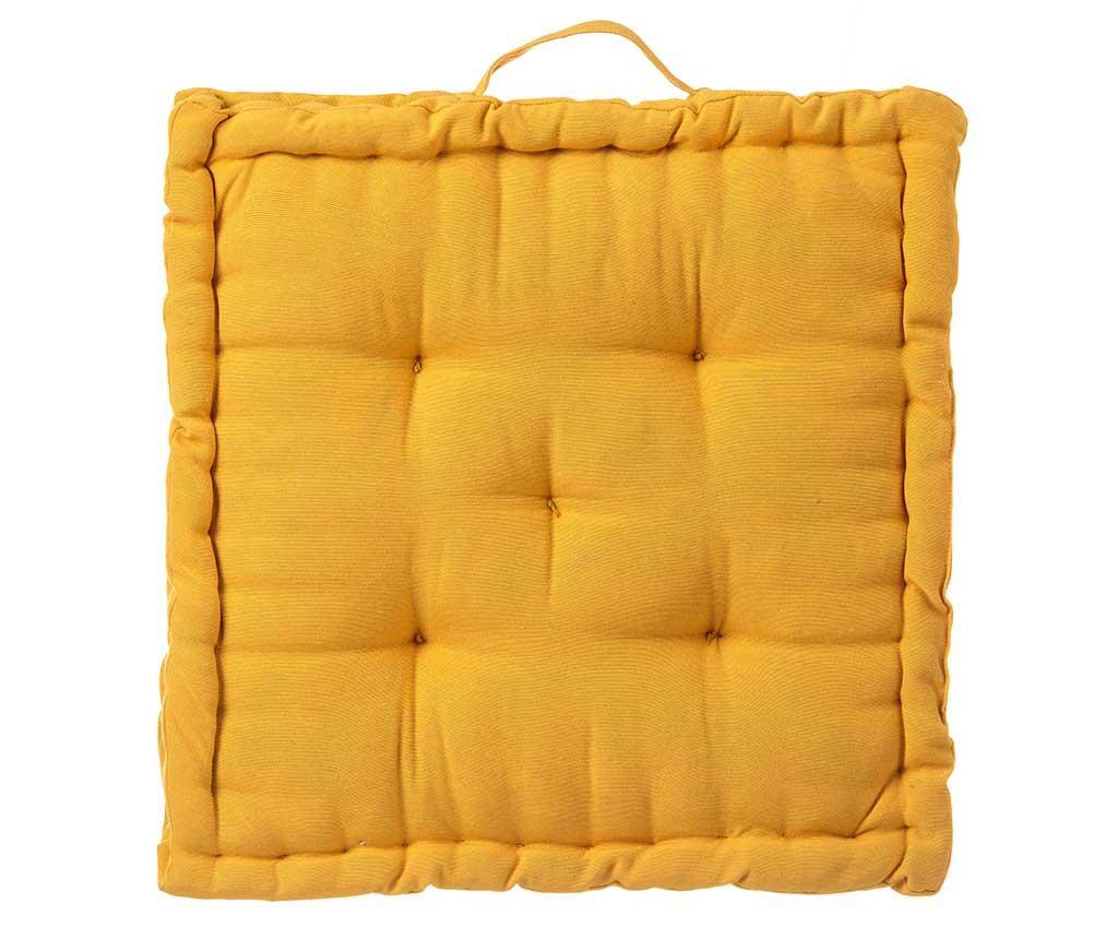 Perna de podea Loving Colours Yellow 45x45 cm - Casa Selección, Galben & Auriu imagine