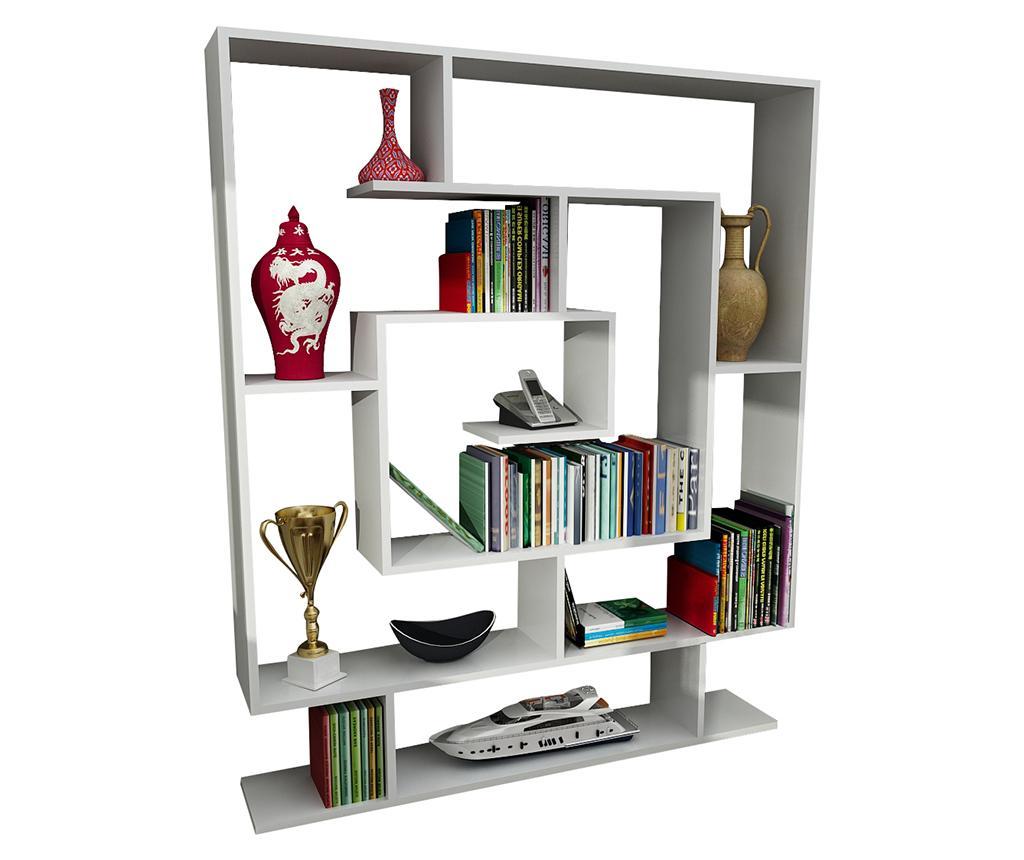 Corp biblioteca Maze White - Wooden Art, Alb