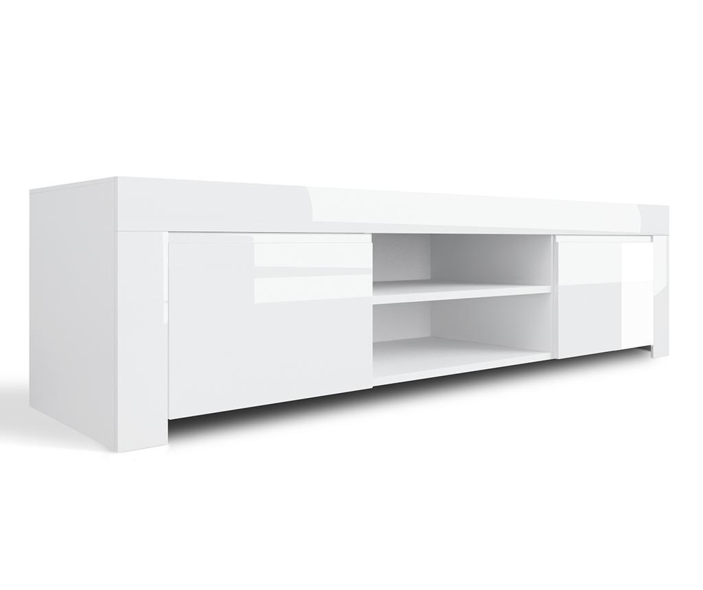 Comoda TV Amber Peake White - TFT Home Furniture, Alb