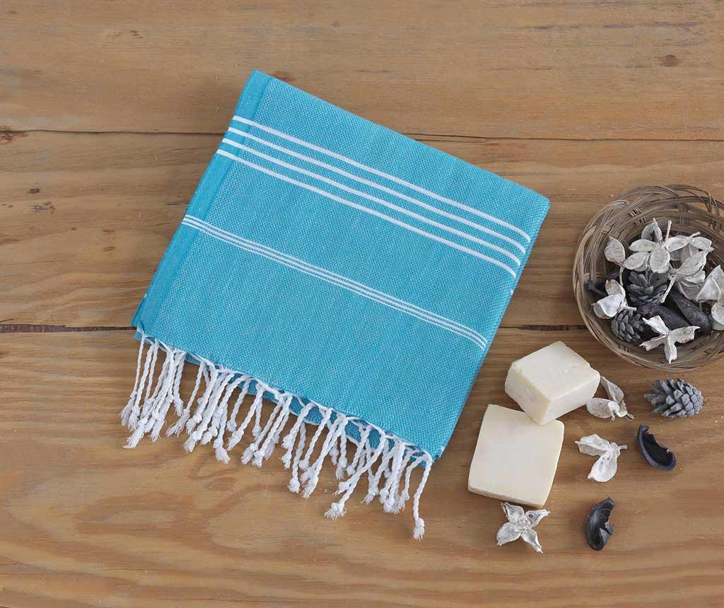 Prosop de plaja Sultan Turquoise 100x180 cm - Eponj Home, Albastru imagine