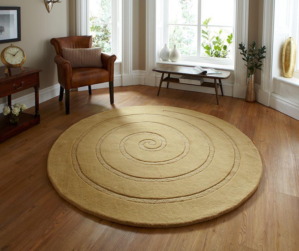 Covor Spiral Gold 140 cm vivre.ro