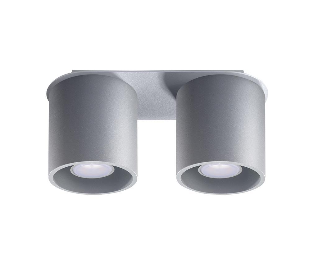 Plafoniera Roda Two Grey - Nice Lamps, Gri & Argintiu imagine