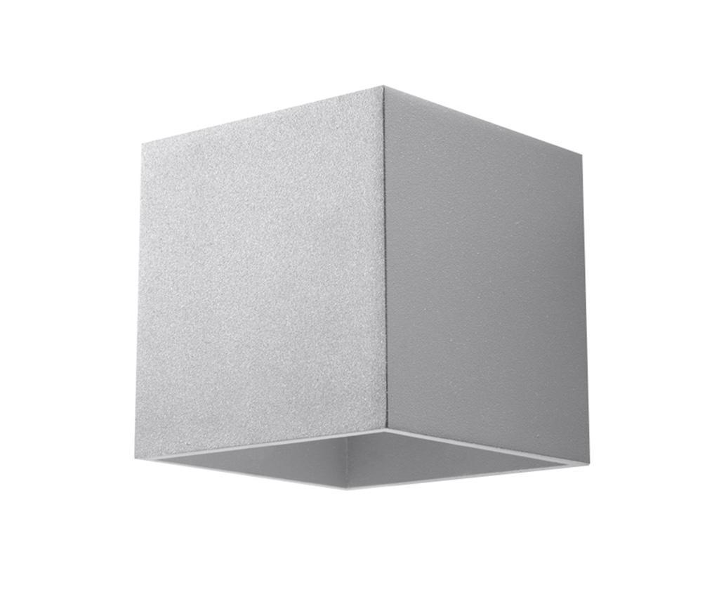 Aplica de perete Geo Grey - Nice Lamps, Gri & Argintiu