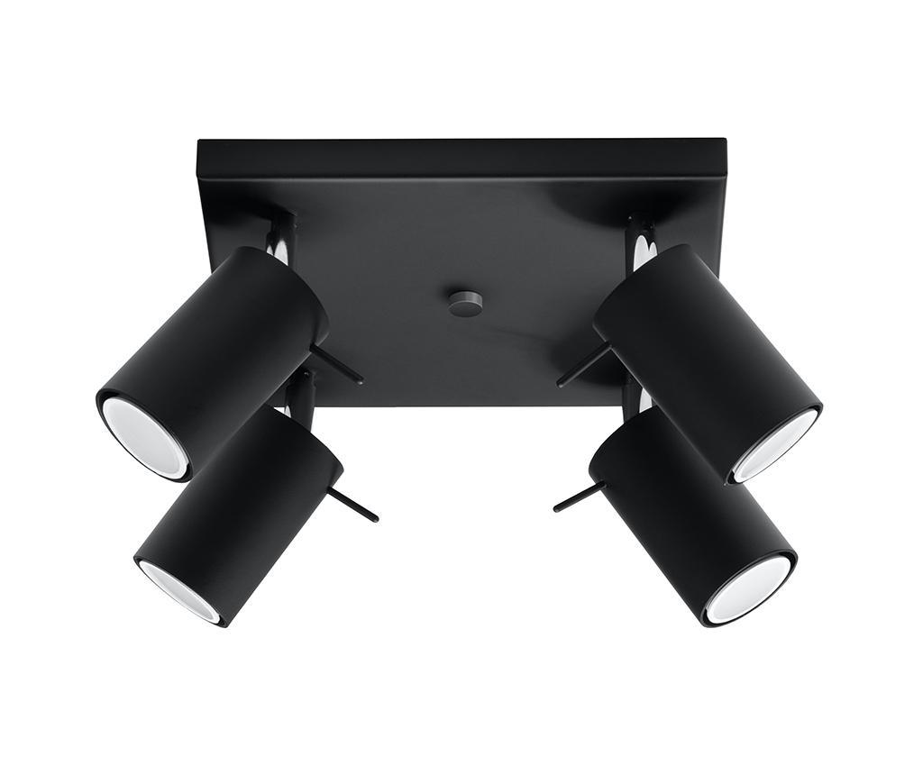 Plafoniera Etna Four Black - Nice Lamps, Negru imagine