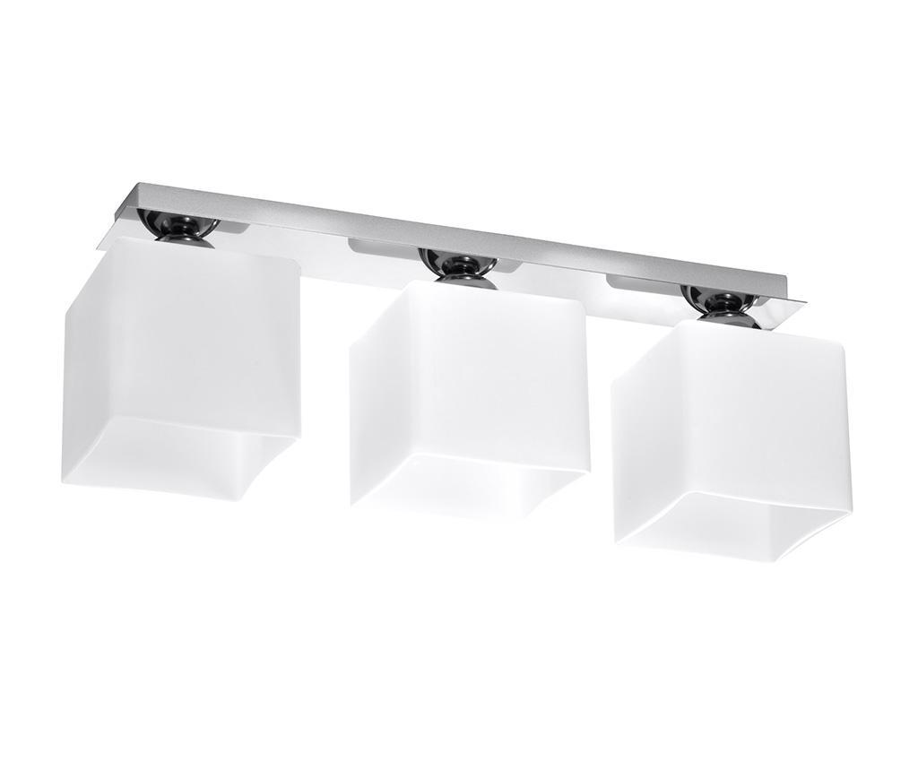 Lustra Square Three White Chrome - Nice Lamps, Alb imagine