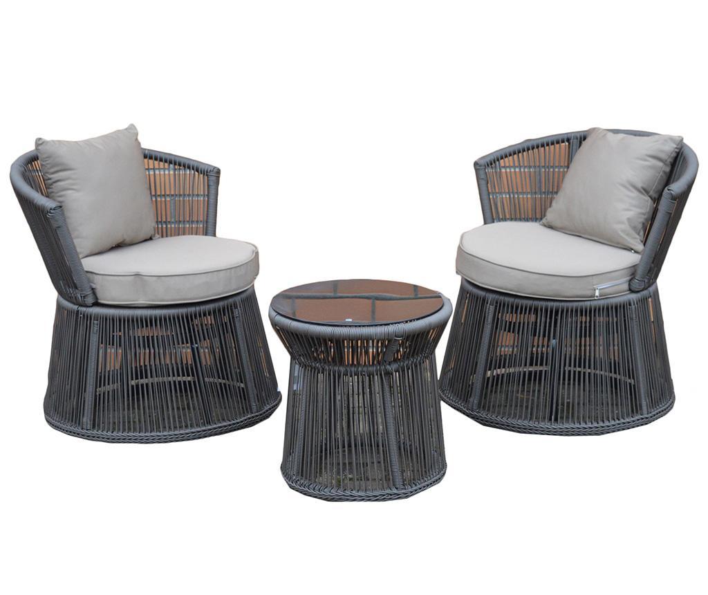 Set masuta si 2 scaune pentru exterior Garden - EWAX