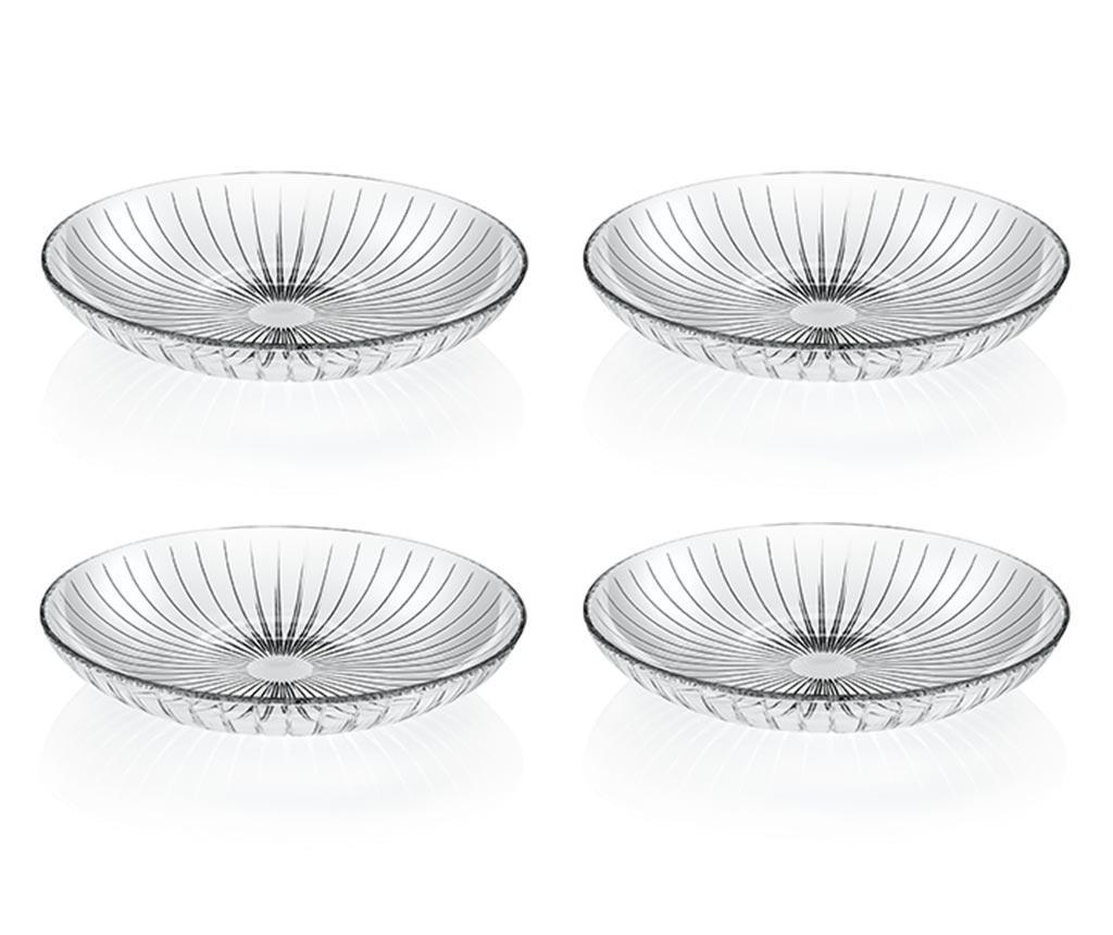 Set 4 farfurii adanci Sunbeam - RCR Cristalleria Italiana, Alb