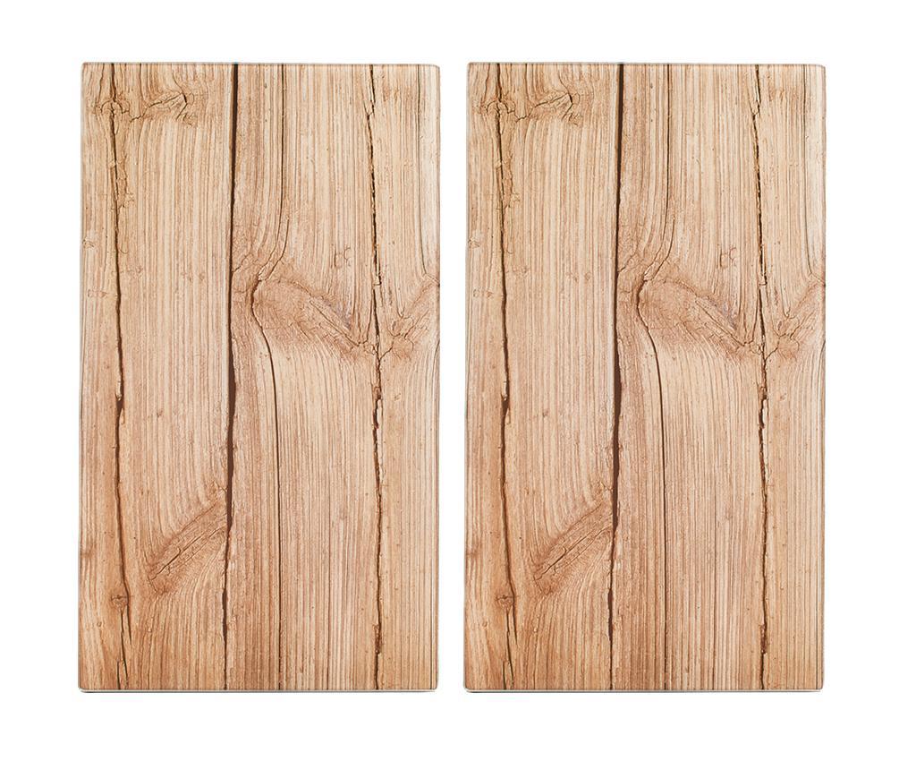 Set 2 planse protectoare pentru plita Wood 30x52 cm imagine