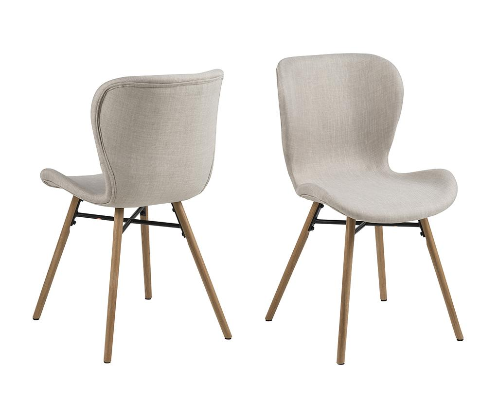 Set 2 scaune Batilda Sand - actona, Crem poza