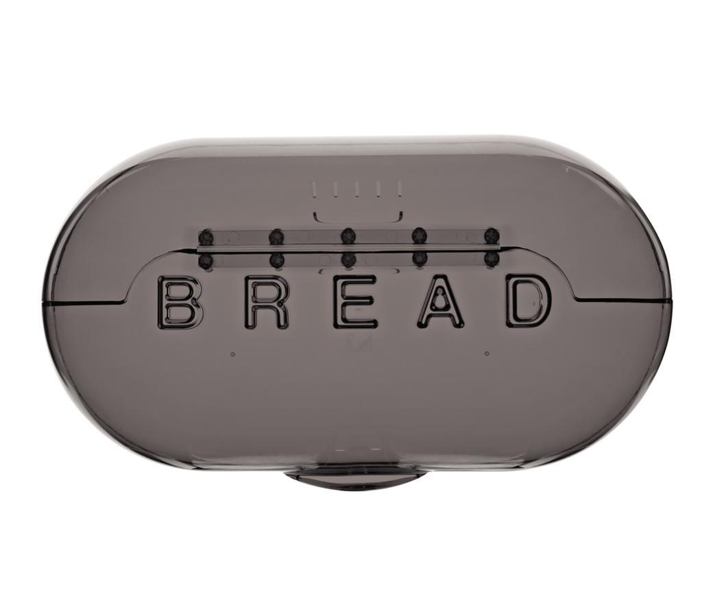 Cutie pentru paine Bread Grey - Viceversa, Gri & Argintiu imagine