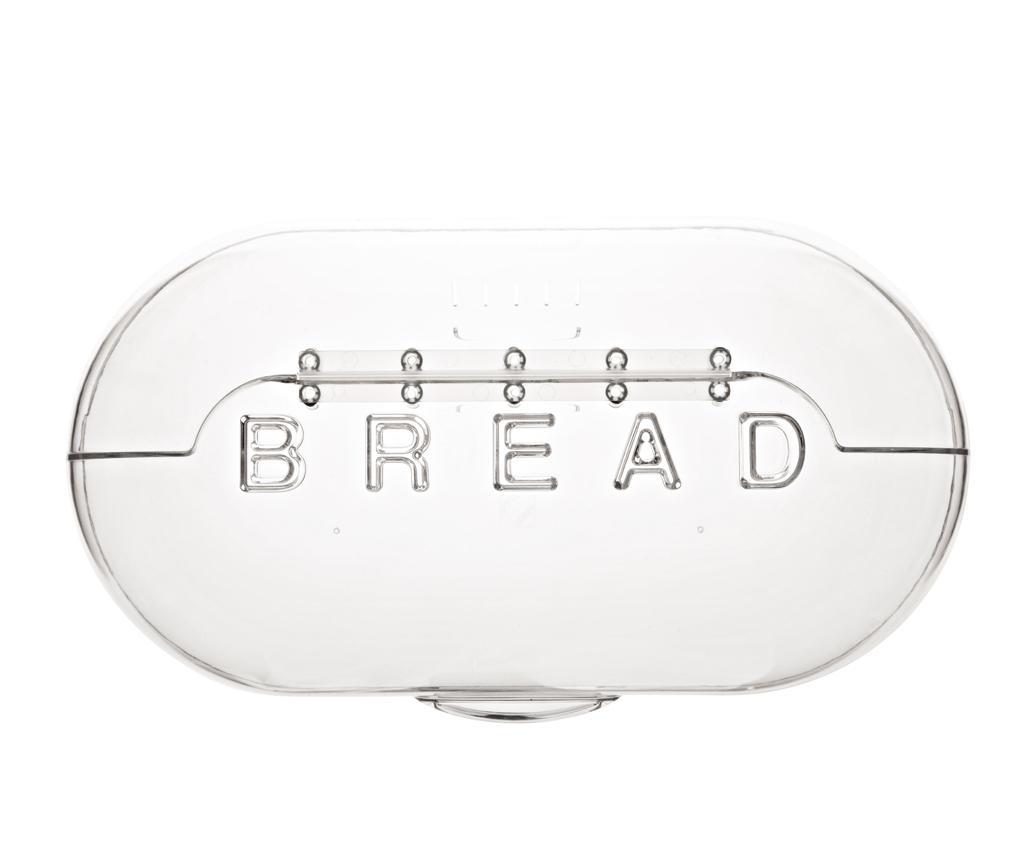 Cutie pentru paine Bread Transparent - Viceversa, Alb imagine