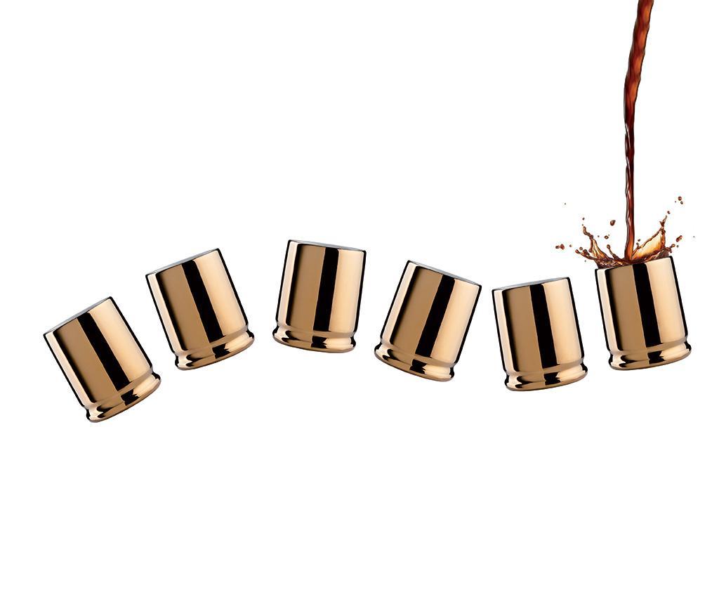 Set 6 pahare pentru espresso Coffee Shots 90 ml - Viceversa, Galben & Auriu imagine