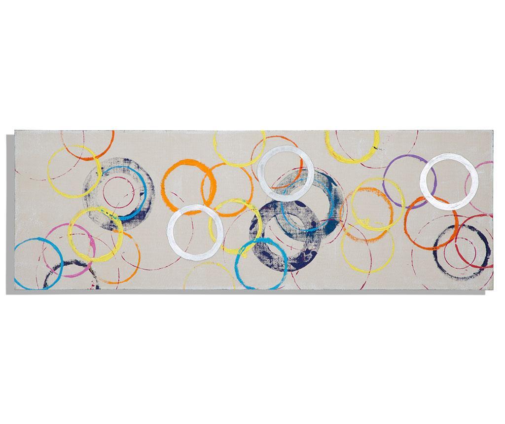 Tablou Colored Circles 50x150 cm - Mauro Ferretti, Multicolor