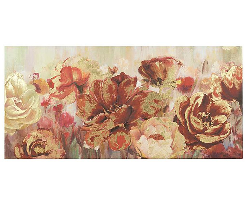 Tablou Maylis Roses 70x150 cm - inart, Rosu imagine