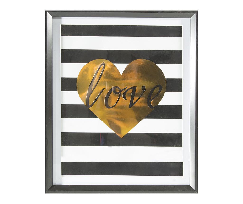 Tablou Stripes Love 40x50 cm - Eurofirany, Multicolor poza