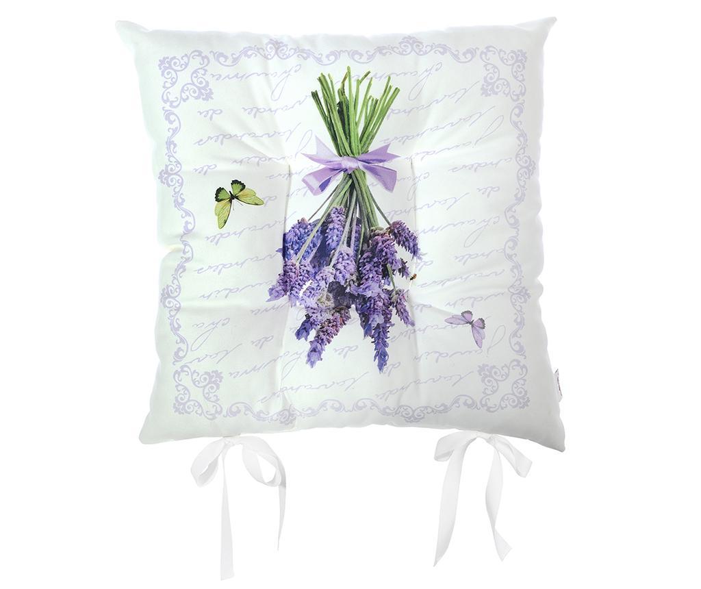 Perna de sezut Butterfly & Lavender 37x37 cm imagine