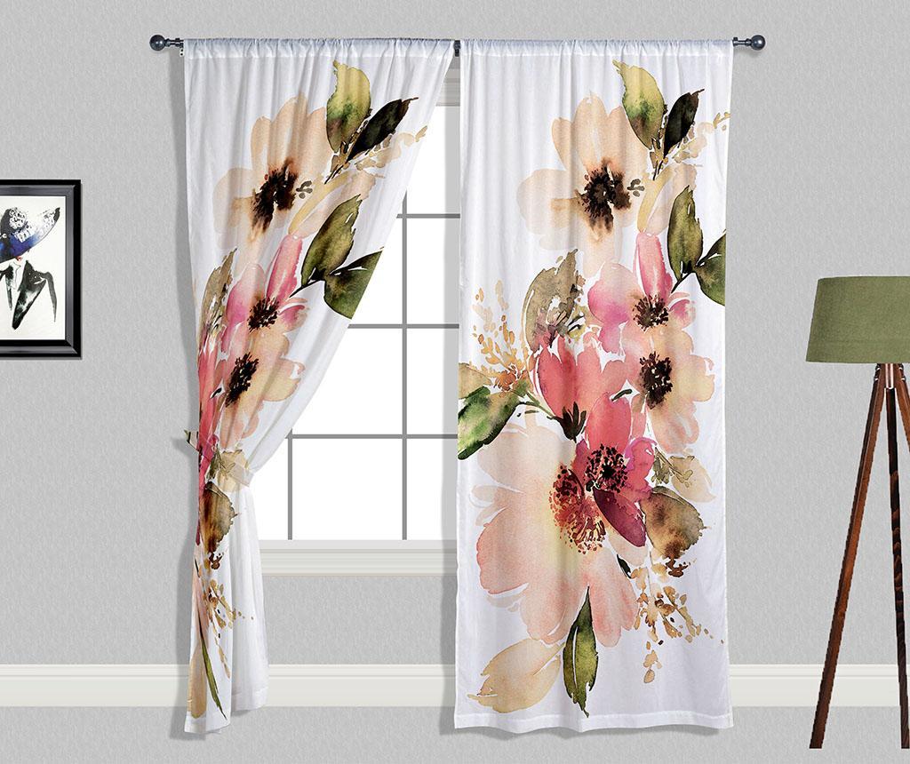 Set 2 draperii Pastel Flowers 140x240 cm