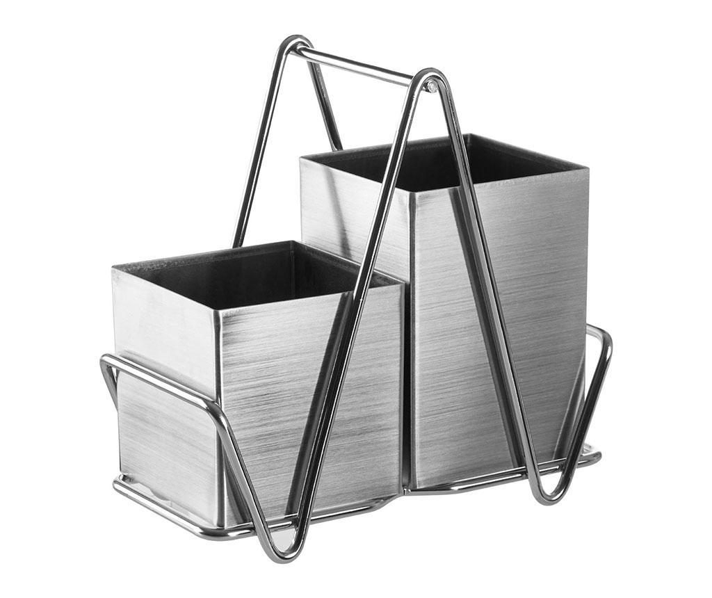 Suport pentru tacamuri Caddy - Premier, Gri & Argintiu poza