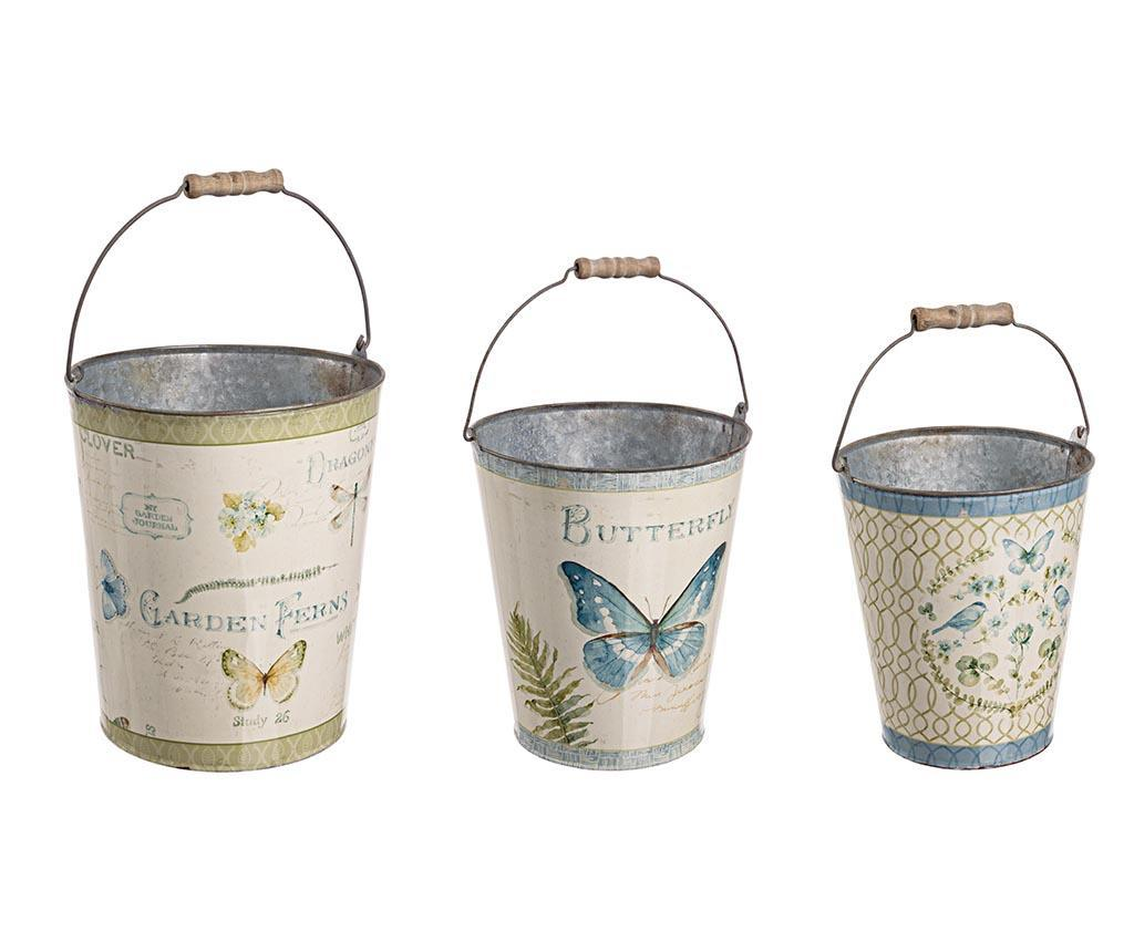 Set 3 galeti decorative Butterfly - Bizzotto