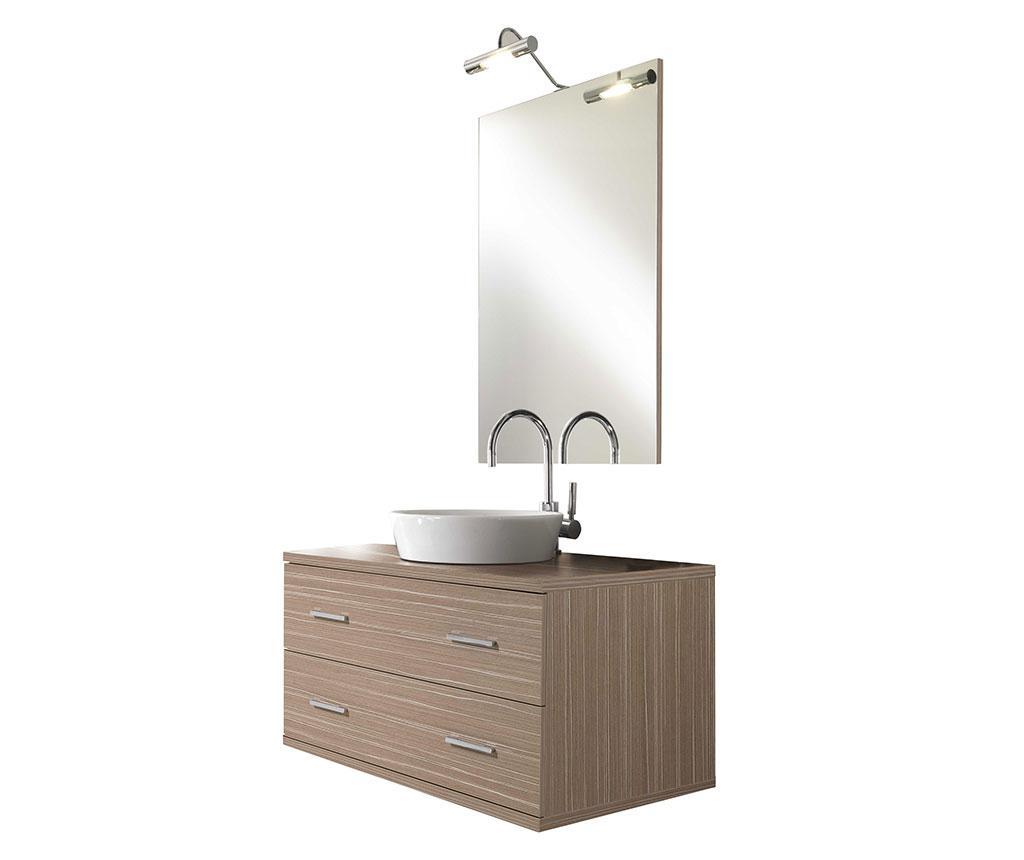 Set mobilier pentru baie 4 piese Giava Cream Simple - TFT Home Furniture, Crem imagine