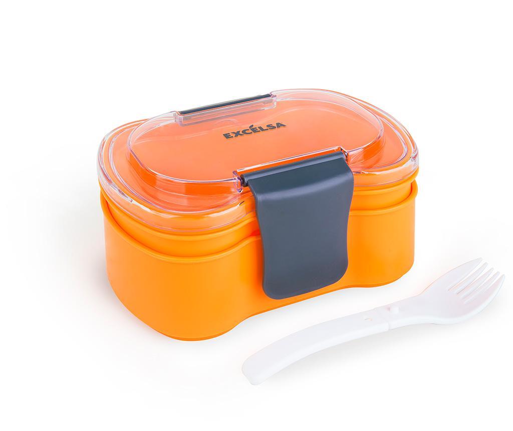 Cutie pentru pranz cu 1 tacam Oloryn - Excelsa, Portocaliu imagine