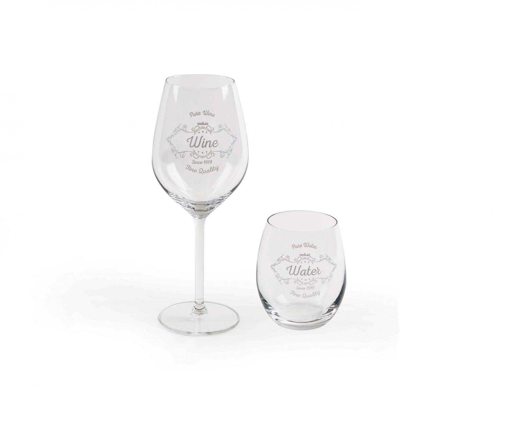 Set 12 pahare Vino - Excelsa, Alb