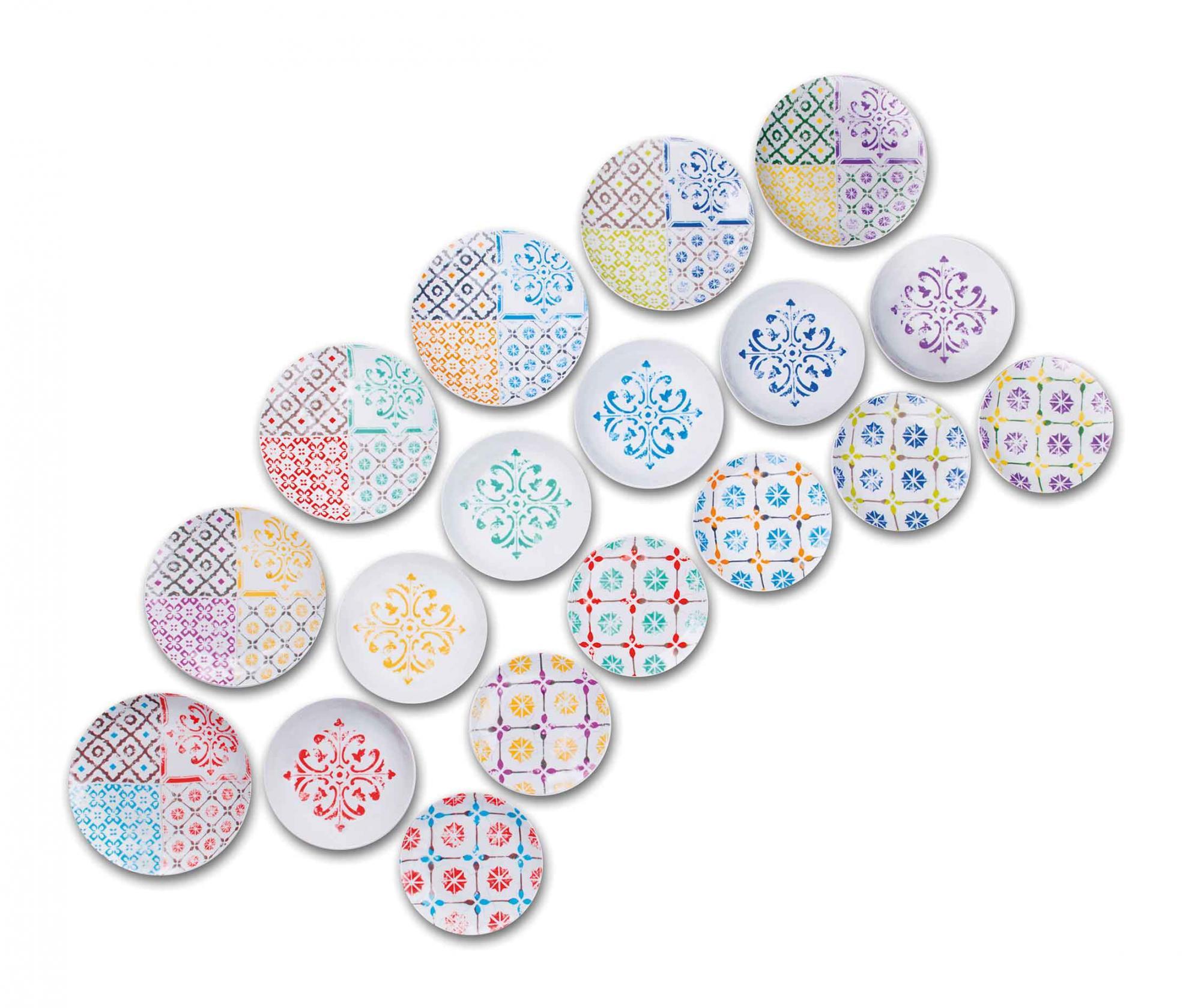 Set de masa 18 piese Maioliche - Excelsa, Multicolor imagine