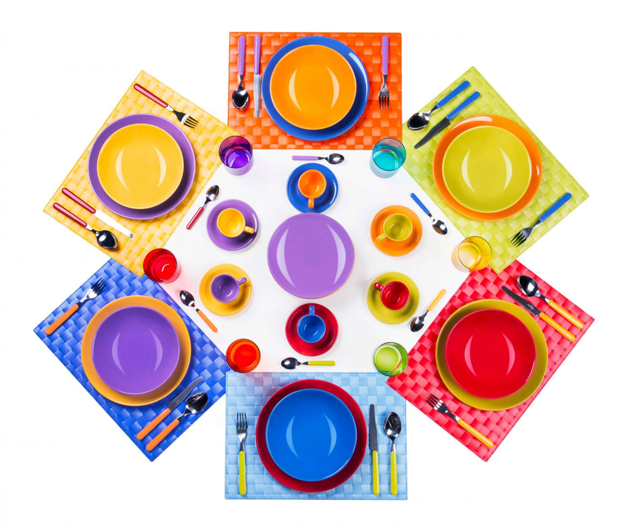 Set de masa 66 piese Multicolor