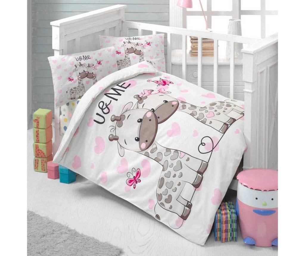 Lenjerie de patut Ranforce Sweet 100x150 - Patik, Multicolor imagine