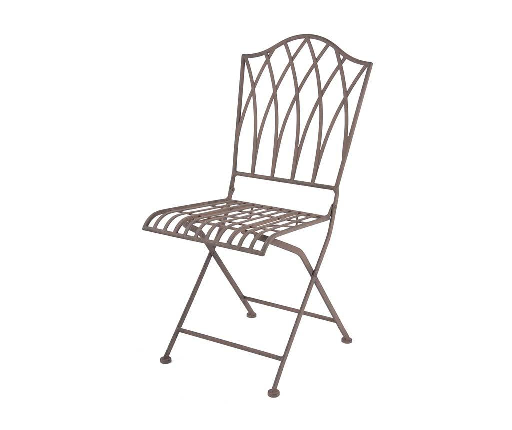 Scaun pliabil pentru exterior Wige - Esschert Design, Maro imagine