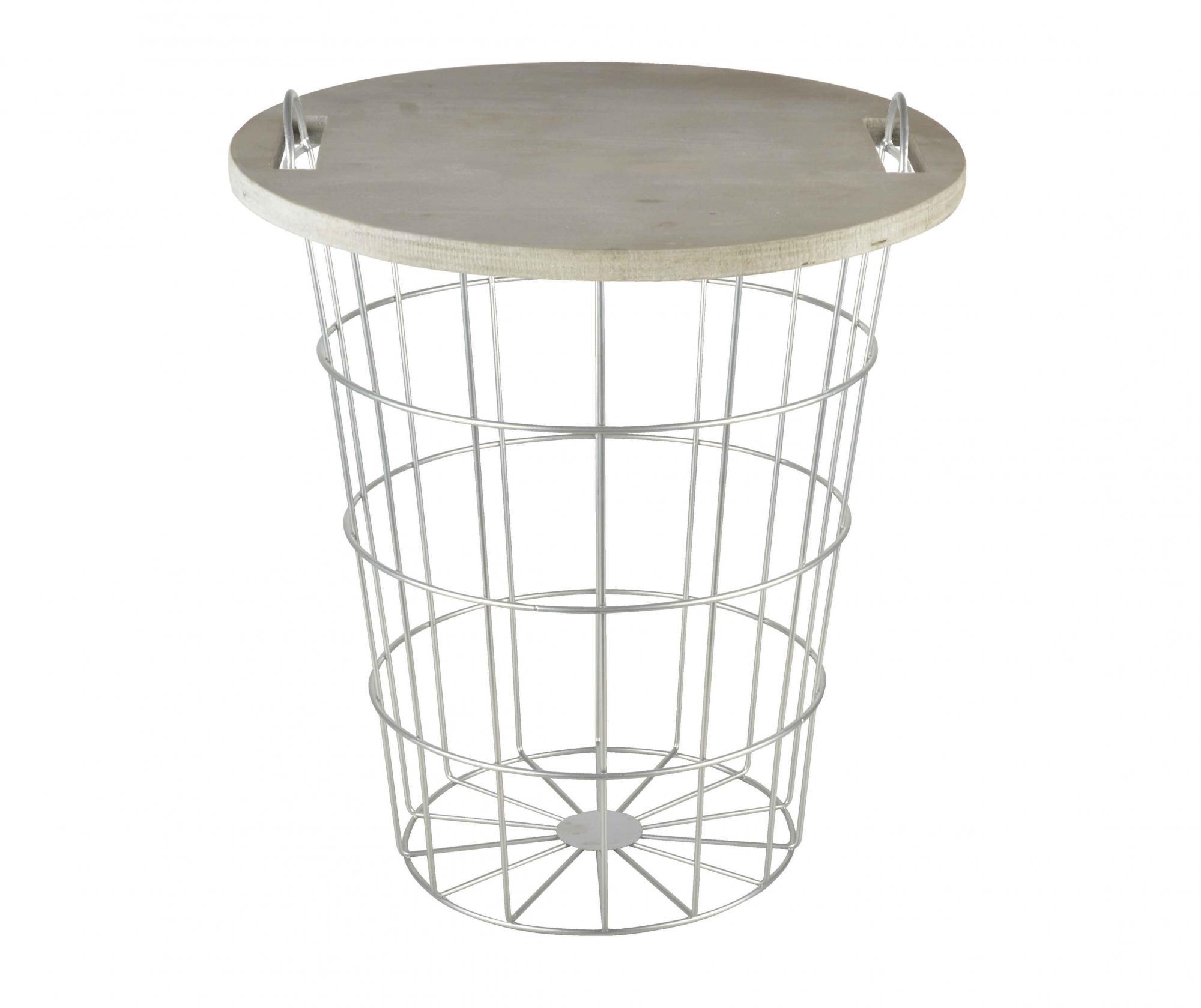 Masuta de cafea Marima - Esschert Design, Gri & Argintiu