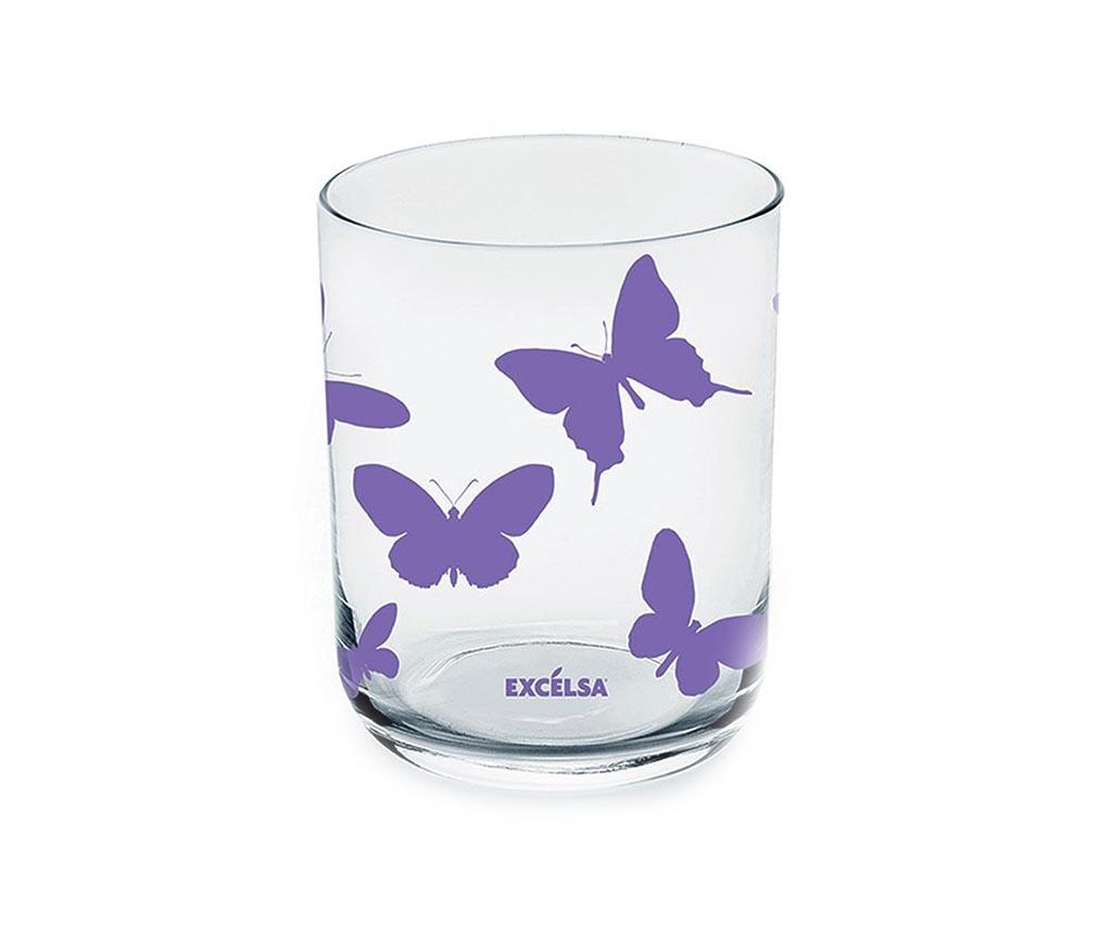 Set 6 pahare Enjoy Lilac 350 ml imagine