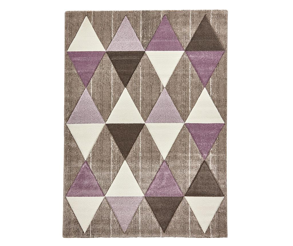 Covor Brooklyn Beige Purple 120x170 cm - Think Rugs, Crem vivre.ro