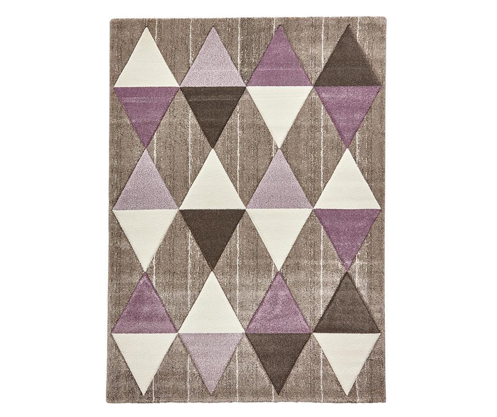 Covor Brooklyn Beige Purple 120x170 cm - Think Rugs, Crem vivre.ro