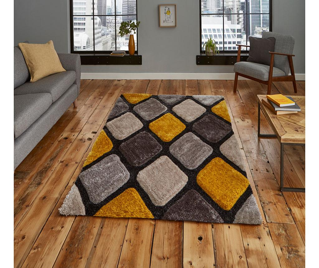 Covor Noble House Grey Yellow 150x230 cm - Think Rugs, Galben & Auriu,Gri & Argintiu imagine