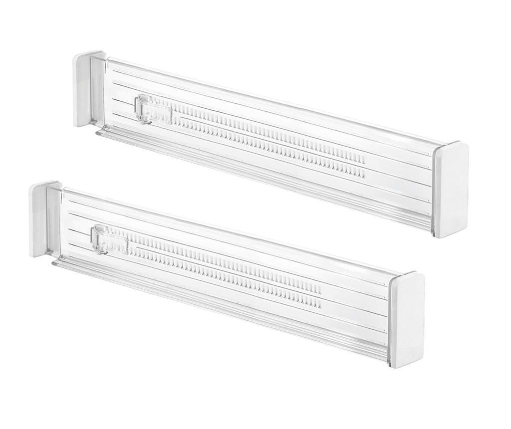 Set 2 separatoare ajustabile pentru sertar Linus Verdensa