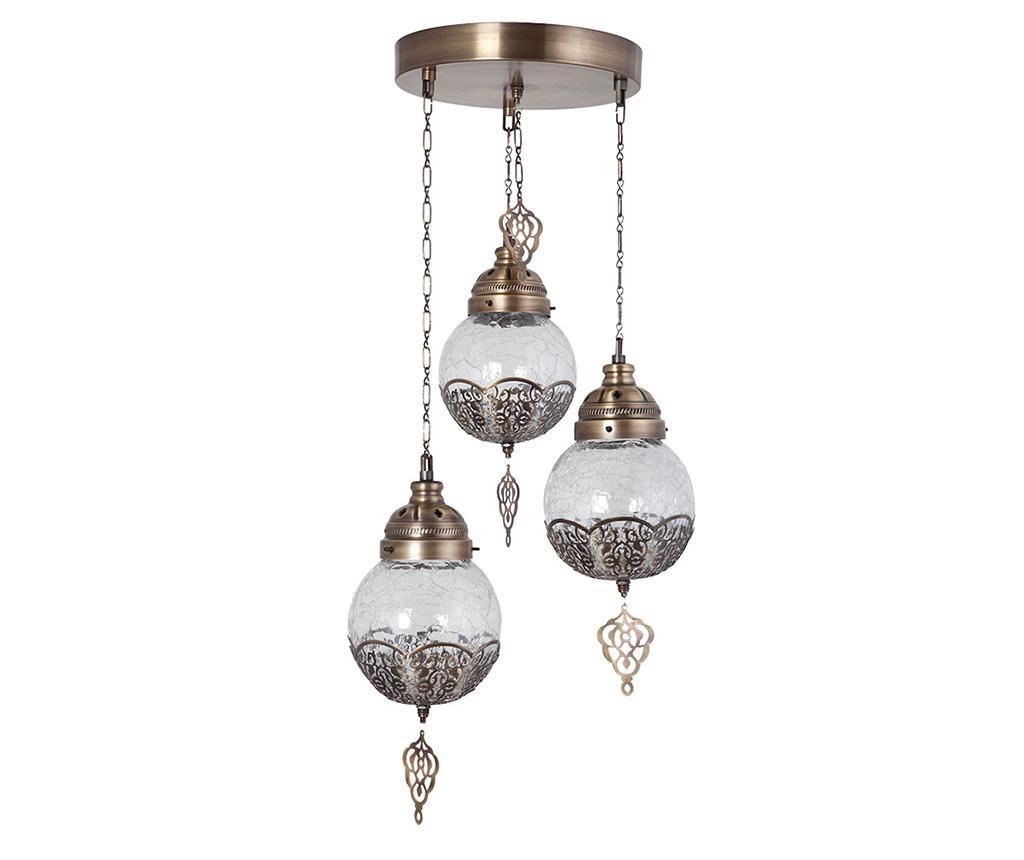Lustra Eve Gold Three - Lamper, Galben & Auriu imagine