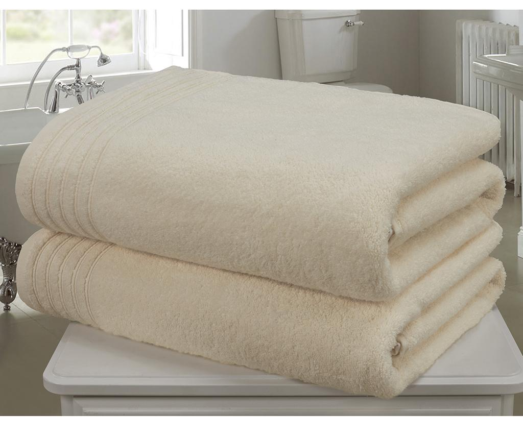 Set 2 prosoape de baie So Soft Cream 100x140 cm