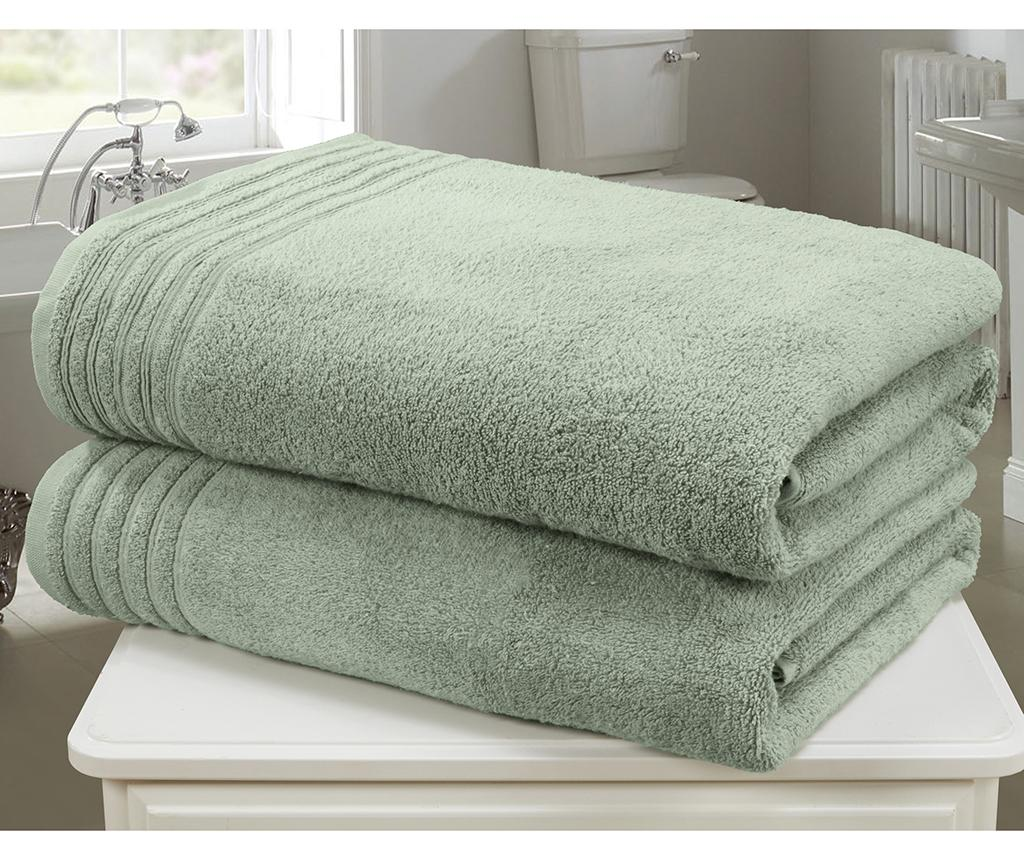Set 2 prosoape de baie So Soft Sea Green 100x140 cm
