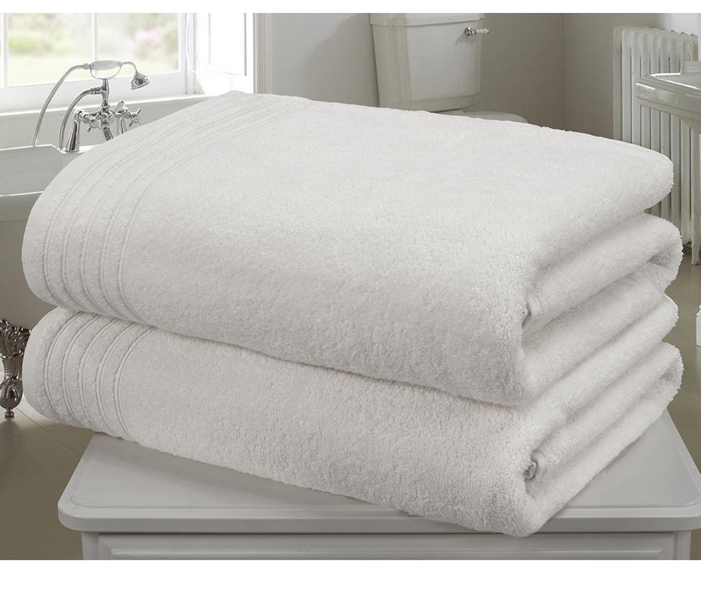 Set 2 prosoape de baie So Soft White 100x140 cm