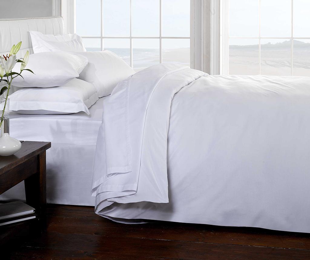 Cearsaf de pat cu elastic Brighton Hill White 180x200 cm - Brighton Hill imagine vivre.ro