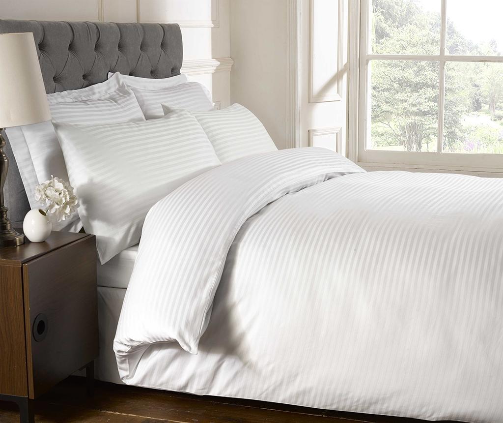 Cearsaf de pat cu elastic Brighton Hill Premium White 160x200 cm
