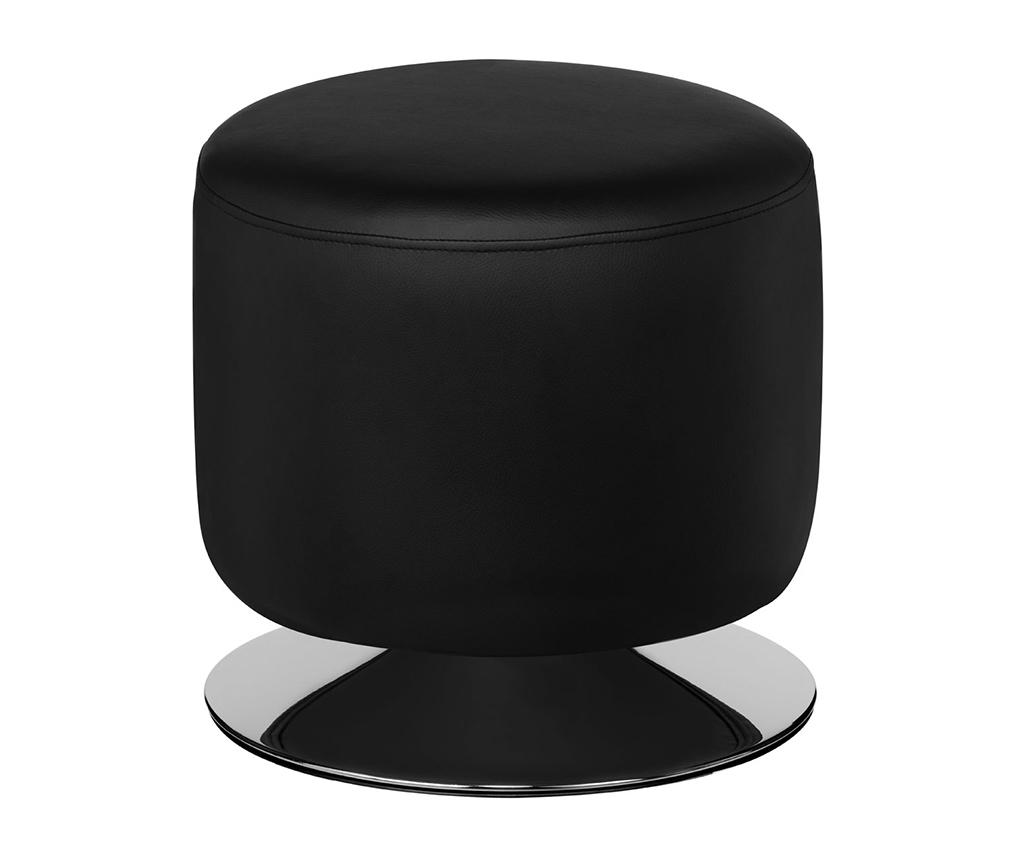 Taburet rotativ Cylinder Black - Premier, Negru
