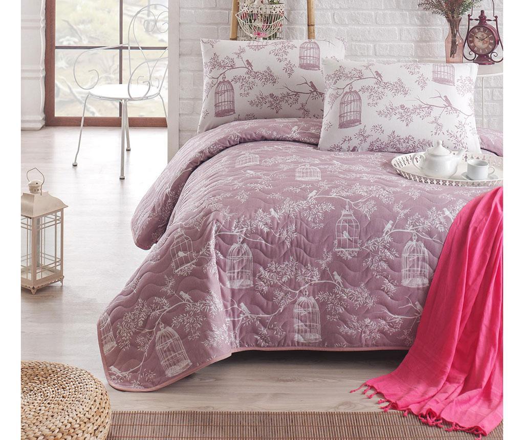Set cuvertura matlasata Double Samyeli Lilac - Eponj Home, Mov imagine