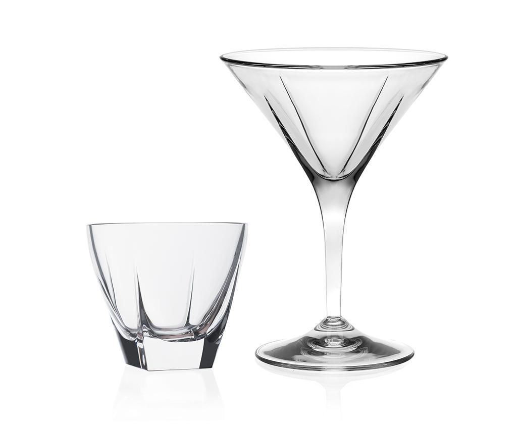 Sada 6 sklenic na martini a 2 mís na předkrm Fusion